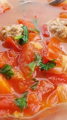 Belgian Tomato Meatball Soup