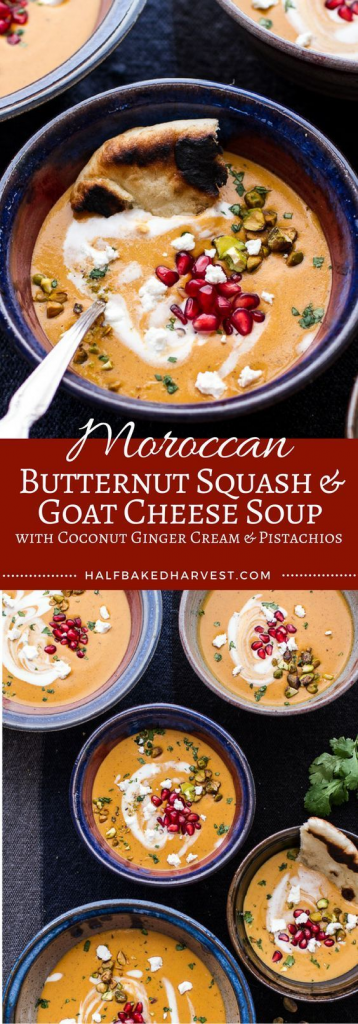 Butternut Squash and Goat Cheese Broth