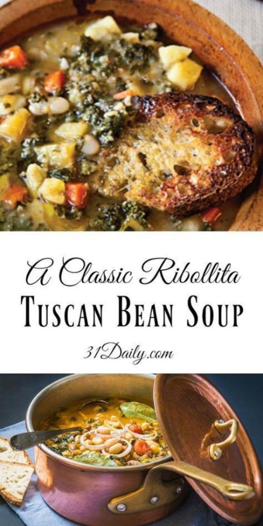 Classic Ribollita Tuscan Bean Soup