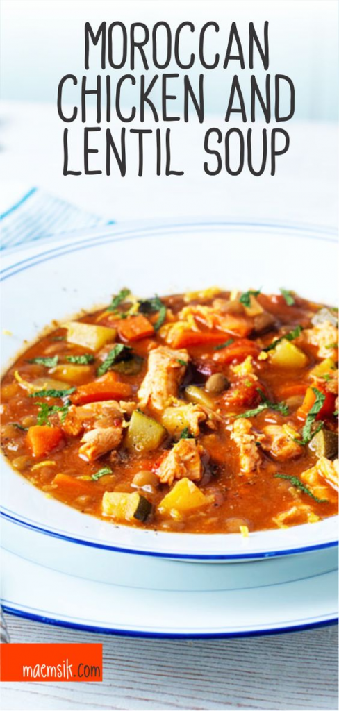Moroccan Chicken and Lentil Soup