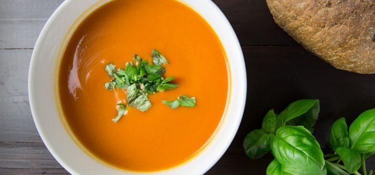 Italian Tomato Soup in Bowl