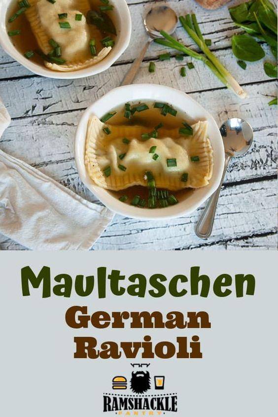 maultaschen German Ravioli Soup
