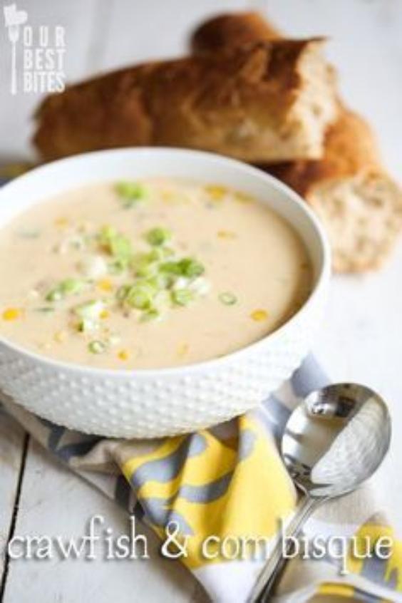 Crawfish and Corn Bisque