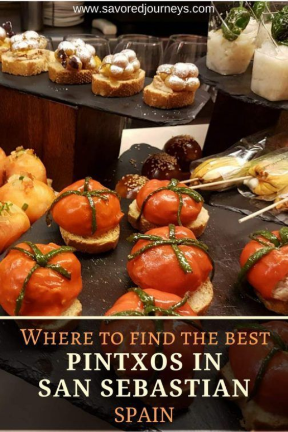 An array of Superb Pintxoa Snacks best restaurants in San Sebastian