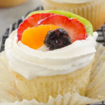 Fruit Cupcake without Buttercream Frosting