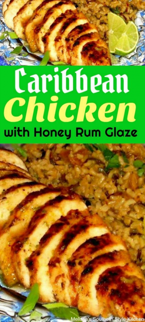 Caribbean Chicken with Honey and Rum Glaze
