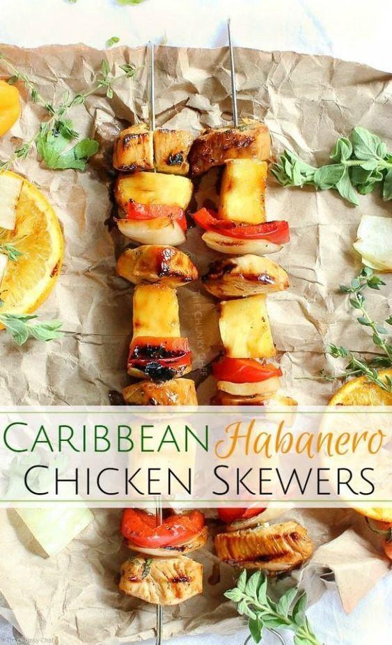 Caribbean Habanero Chicken Skewers