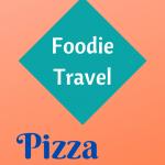 Blue Naples Food Items on an orange background