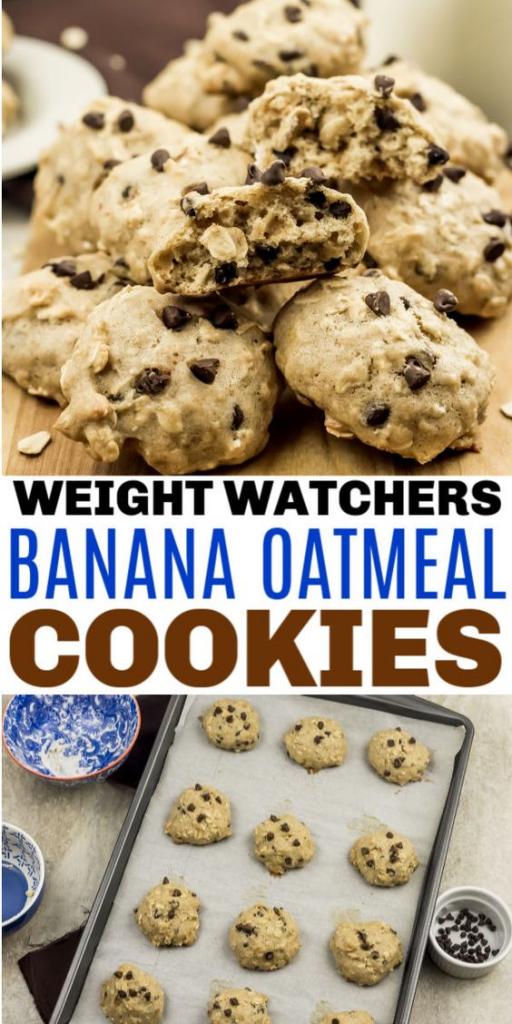 Weight Watchers Banana Oatmeal Cookies