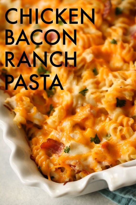Pin for Chicken Bacon Ranch Pasta