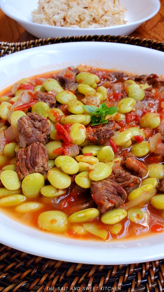 Beef Stew with Lima Beans