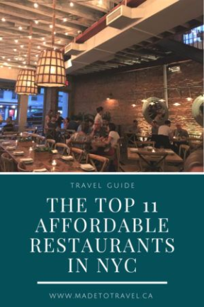 Top 11 Most Affordable Restaurants in NYC