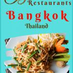 Bangkok Thailand Restaurants
