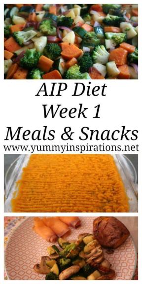 AIP Diet Week 1 Meals and Snacks