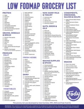 Diet Grocery List