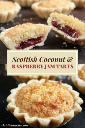 Scottish Coconut & Rspberry Jam Tarts