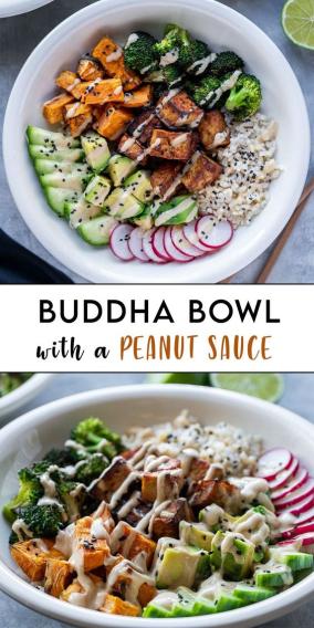 Buddha Bowl with Peanut Sauce