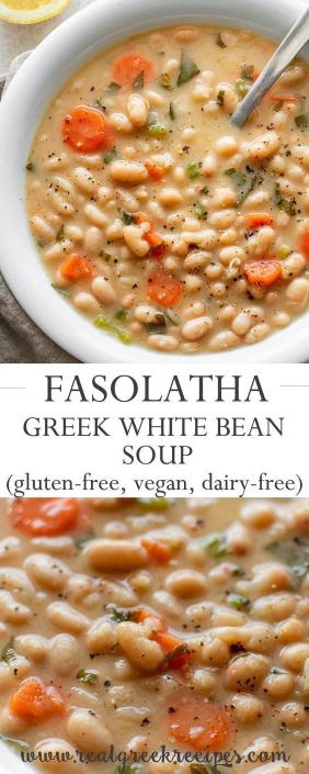 Fasolatha White Bean Soup Recipe